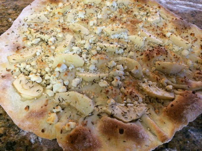apples and cheese pizza