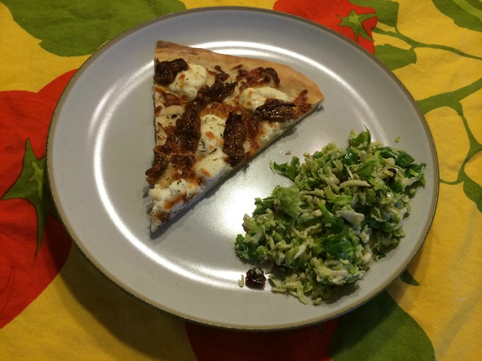 Pizza and Brussels Sprouts