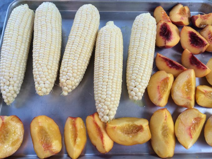 Corn and Peaches