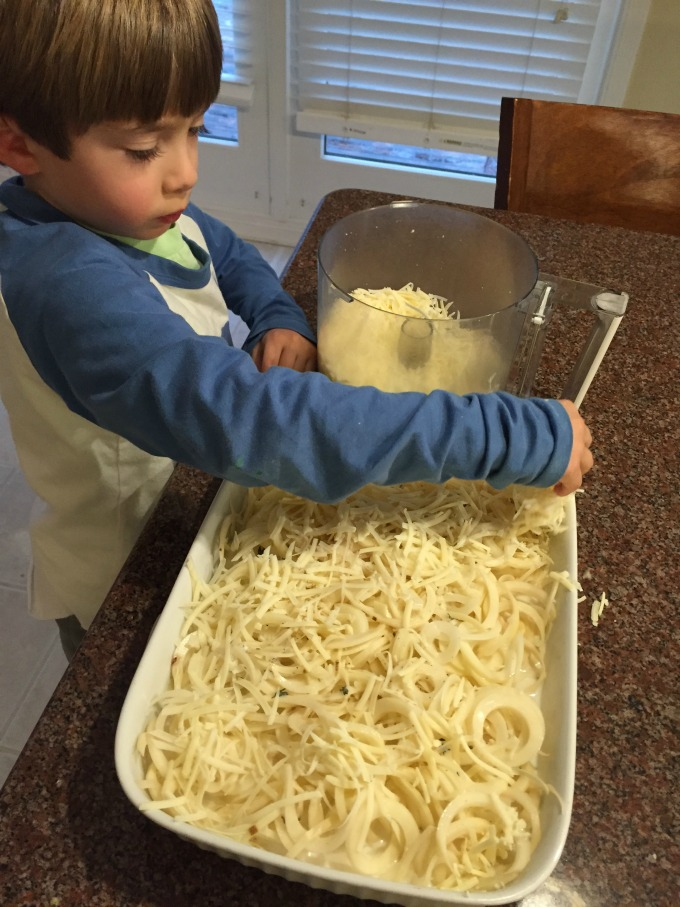 Sprinkling Cheese on Top