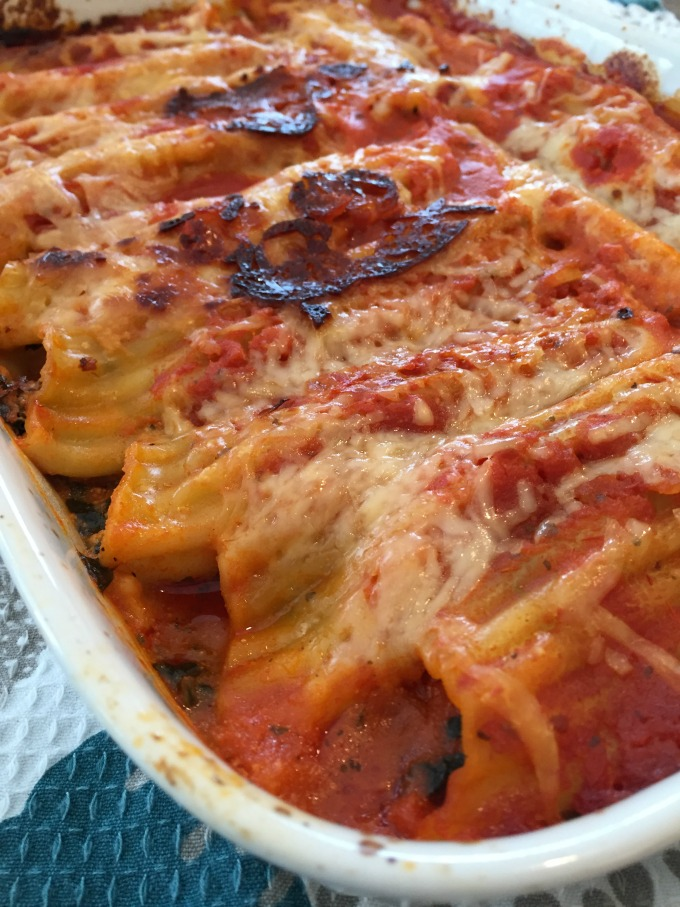 Easy Spinach Manicotti
