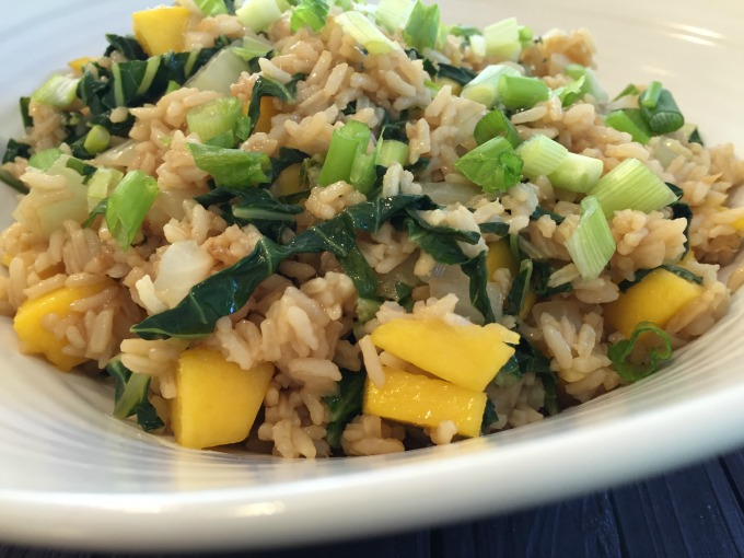 Mango Bok Choy Fried Rice