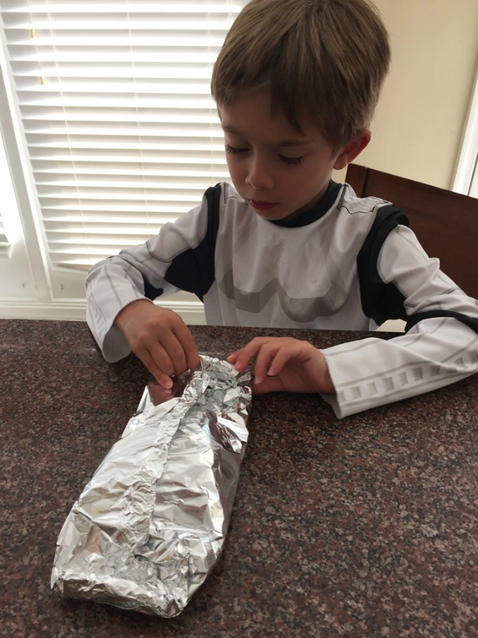 Pinching Foil Packets